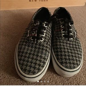 Authentic Houndstooth Vans (Size US 6.5)